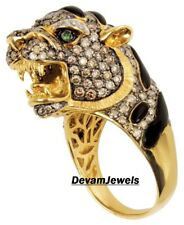 Leopard shaped Customized 925 Sterling Silver Cubic Zirconia Ring Free Shipp