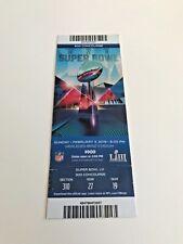 Super Bowl Liii 53 full ticket stub authentic excellent!