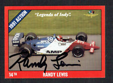 Randy Lewis #15 signed autograph auto 1992 Legend of Indy Trading Card