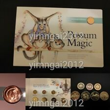2017 Possum Magic Uncirculated Coin Set - 3 x $2 Coloured Coin, 4 x $1 & 1c Coin