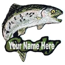 Rainbow Trout Custom Iron-on Patch Personalized