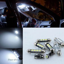 12PC White Interior LED Light Package kit 12V for 99-05 BMW E46 Convertible