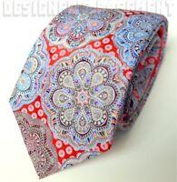 ERMENEGILDO ZEGNA Limited Edition QUINDICI red MEDALLION silk Tie NWT Authentic!