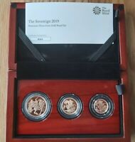 The Sovereign 2019 Premium  3 Three-coin Gold Proof Set