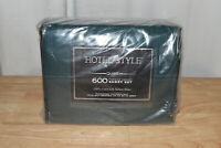 Hotel Style 600 Thread Count 100% Luxury Cotton Sheet Set -Queen, Green Damask