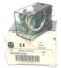 NIB ALLEN BRADLEY 700-HC14A1 RELAY 700HC14A1 SER. C 7AMP, 4PDT, 120VAC