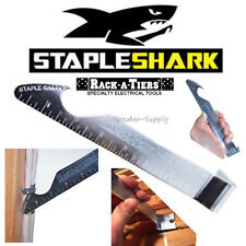 Rack-A-Tiers Staple Shark Staple Nail Removal Tool Electricians Pry Bar 52455