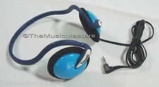 Kids On-ear Neckband Sport Style Wired Stereo Headphones Earphones Headset Blue