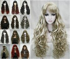13 colors Long Fluffy Curly Wavy Women Ladies Natural Daily wig Hivision #33002A