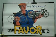 AFFICHE ANCIENNE CYCLES MOTOS FAVOR BELLENGER 1937