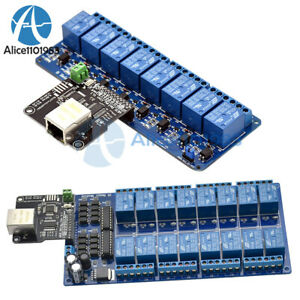 Ethernet Control Module 8/16 Channel Relay Controller Board With RJ45 Interface