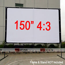 "150"" 4:3 HD Projector Screen Curtain Film for Outside Projector Education Movies"