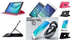 """Flip 360° Case Tasche Schutz Hülle Smart Etui SAMSUNG Galaxy Tab S2 8,0"""" + Folie"""