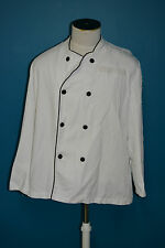 Used Canadian white chef jacket shirt size large ( ref#1565bte156)