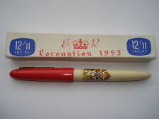 1953 CORONATION SOUVENIR LEVER FILLER FOUNTAIN PEN IN ITS ORIGINAL 12/11 BOX