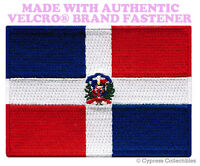 DOMINICAN REPUBLIC FLAG PATCH CARIBBEAN EMBROIDERED w/ VELCRO® Brand Fastener
