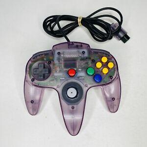 OEM Original Nintendo 64 N64 Atomic Purple Clear Controller Tight Stick TESTED