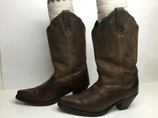 WOMENS UNBRANDED SNIP TOE COWBOY BROWN BOOTS SIZE 8.5 M