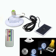Solar Panel Powered 22 LED Bulb Light Lamp Outdoor Camping Tent Remote Control