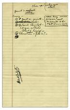 Richard Nixon Handwritten Notes on Economics