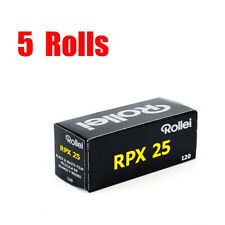 5 Rolls Rollei RPX25  ISO25 120 Middle Format Black&White Film Fresh 10/2021