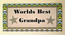 Worlds Best Grandpa... Fridge Magnet  - Great Gift  Idea