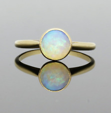 VINTAGE  OPAL SOLITAIRE RING - 1930/1940s