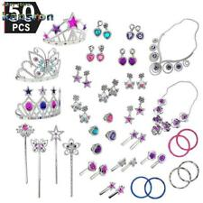 Princess Pretend Jewelry Dress Up Play Set Girls Durable 50 Pcs Authentic