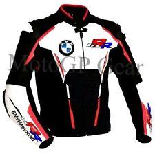 Hommes Moto BMW Cuir Veste Courses Cuir de vachette Armures Des sports Veste