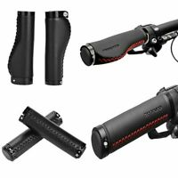 1 Pair Bike Leather Anti-slip Soft Handlebar Grips For Mountain MTB BMX Bicycle