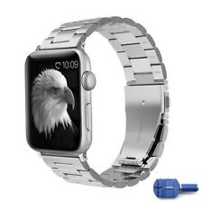 Stainless Steel Band Strap Bracelet for 42mm iWatch Series 3 2 1, w/ sizing Tool