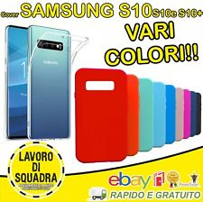 COVER SAMSUNG S10 S10 plus S10e CUSTODIA MORBIDA TPU OPACA ANTI-IMPRONTA VARI CO