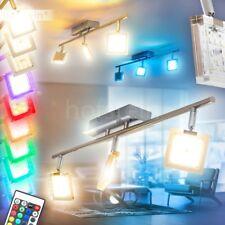 Lampada RGB LED Multicore Luce Soffitto Cromo Salotto Cucino Dimmer Camera Sala