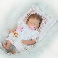 "Real Looking 20"" Full Silicone Reborn Doll Sleeping Girl Soft Vinyl Newborn Baby"