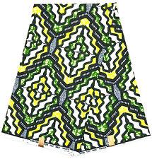 Phoenix Wax Collection Original HITARGET Tissu Africain PAGNE imprimé // 6 Yards
