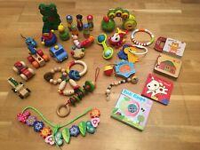 (13) Spielzeug, Sammlung, Kleinkind, Baby, Rassel, Bücher, Fahrzeuge, RolliRaupe