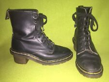 Black Dr.Martens Boots with Heel 6