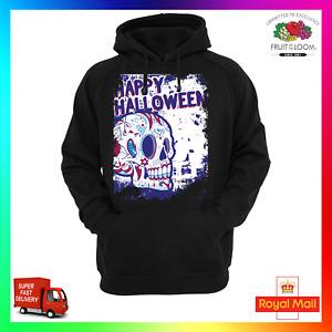 Happy Halloween Hoodie Hoody Funny Scary Ghost Skull Sugar Dia De Los Muertos