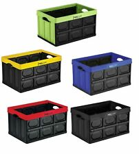 Collapsible Storage 46 Litre Box Insta Crate Folding Stackable Plastic Container