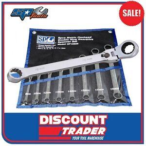 SP Tools Motorsport Locking Flex Head Double Box Wrench Set 6Pc SAE SP10676