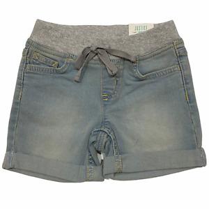 NWT JUSTICE Midi Denim Soft & Stretchy Shorts Sz 6R-12 SLIM Light Wash