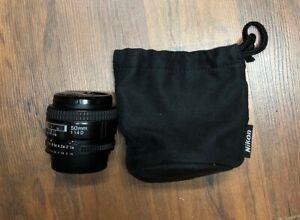 Nikon NIKKOR 50mm f/1.4D AF Lens Excellent condition