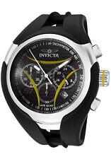 New Mens Invicta 1605 S1 Nitro Chronograph Carbon Fiber Dial Black Rubber Watch