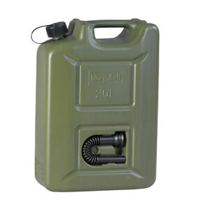 Profi Benzinkanister 20 Liter ARMY Kanister oliv NEU Kraftstoffkanister PRO 20L