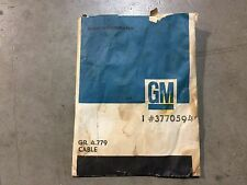 """GM 3770594 1958-64 Emergency Brake Cable Front """"NOS"""""""