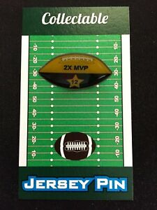 Green Bay Packers Aaron Rodgers football lapel pin-Collectible