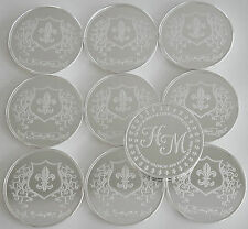 """10 ONE OZ HW MINTING HERALDRY MINT """"FRANCE"""" FINE .999 SILVER COINS SILVER ROUNDS"""