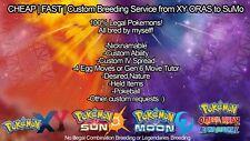 Pokemon XY ORAS Sun Moon 6IV Custom BR Shiny Breeding Service Any Pokemon! Guide