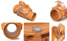 160mm Backflow Underground Drainage Non Return Valve Single Stainless Steel Flap