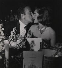 Weegee Photograph of Humphrey Bogart Kissing Lauren Bacall, Stamped
